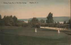 Putting Green No. 3, The Glen Springs Postcard