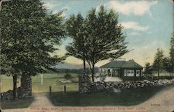 Entrance to Bethlehem Country Club Golf Links Postcard