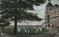 View of Tower and Putting Green, Poland Spring House Postcard