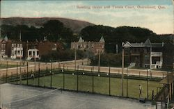 Bowling Green and Tennis Court Postcard