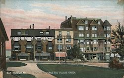 Hotel Florence and Village Green Postcard