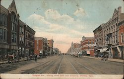 Douglas Ave. Looking West From Near Emporia Postcard