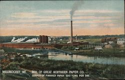 Mill of Great Northern Paper Co, Output of Finished paper 300 Tons per day Postcard