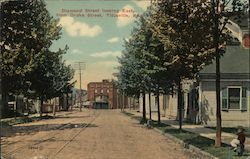 Diamond Street Looking East from Drake Street Postcard