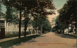 West Main Street Looking East from Washington Street Postcard