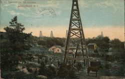 In the Heart of the Oil Country Postcard