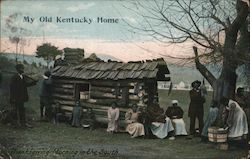 My Old Kentucky Home, Thanksgiving Morning in the South Postcard