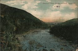 Deerfield River, 1907 Benjamin Franklin Stamp Postcard