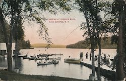 Canoeing at Georges Mills Postcard