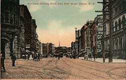 Broadway, Looking North from State Street Postcard