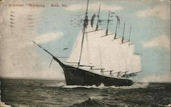 Schooner Wyoming Postcard