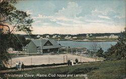 Christmas Cove, Maine Club House and Landing Postcard