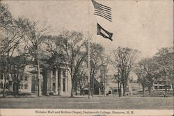 Wonder Hall and Rollins Chapel, Dartmouth College Postcard
