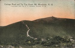 Carriage Road and Tip Top House, Mount Moosilauke Postcard