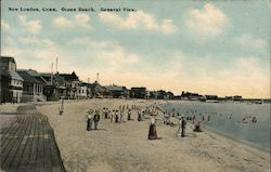 Ocean Beach, General View Postcard