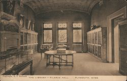 The Library-Pilgrim Hall Postcard