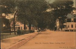 Main St., Looking West Postcard