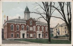 County Court House and Registry Postcard