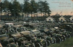 Automobiles at the Brockton Fair Postcard