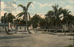 Florida East Coast Railway, Key West Extension, Typical Scene, Cocoanut Grove and Cottages on the Keys Postcard