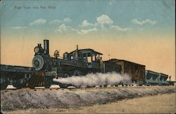 First Train into Key West Postcard