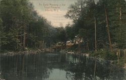 An Early Morning at the Trout Preserve Postcard