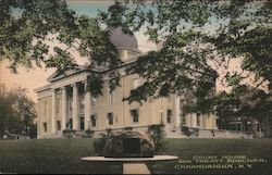Court House and Treaty Boulder Postcard