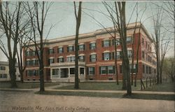 Foss Hall at Colby College Postcard