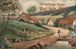 Windmill on a Slope Postcard