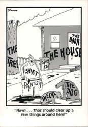 The Far Side: Now That Should Clear Up A Few THings Around Here