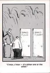 Pick a Door: Damned if You do, Damned if You Don't - The Far Side