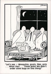 The Far Side: Let's See, Mosquitos, Gnats, Flies, Ants
