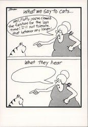The Far Side: What We Say To Cats