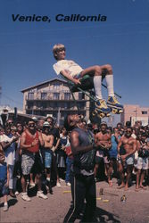 Entertainment on Venice Beach Postcard