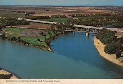 Sacramento and American Rivers Postcard