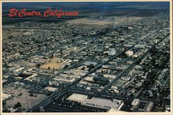 Aerial View of El Centro Postcard