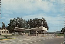 Main Gate, Vandenberg AFL Postcard