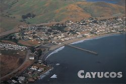 Aerial View of Cayucos Postcard
