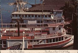 Tour Boats at Ports O'Call Village Postcard