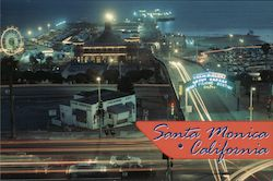 The World Famous Santa Monica Pier Postcard