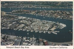 Newport Beach Bay Area Postcard