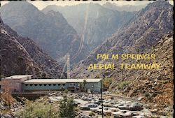 Palm Springs Aerial Tramway, Valley Station and Parking Area Postcard