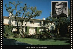 The Home of George Burns Postcard