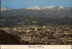 Aerial View of Glendale, San Gabriel Mountains Postcard