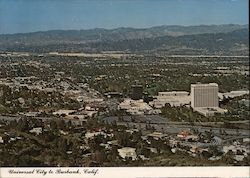 Universal City and Burbank Postcard