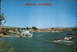 Marina on the Colorado River - Needles, California Postcard