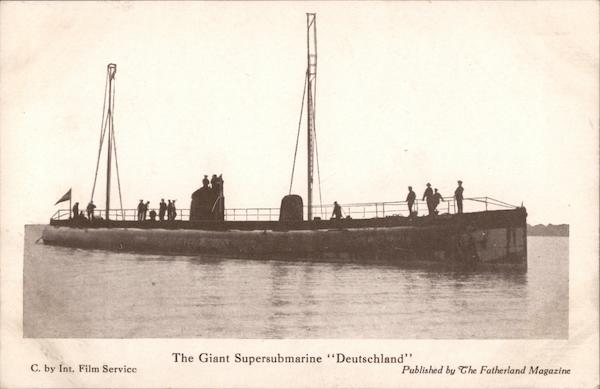 The Giant Supersubmarine Deutschland Military