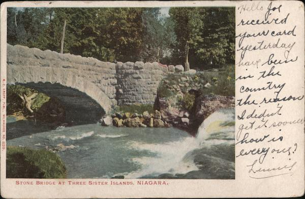Stone bridge at Three Sisters Islands Niagara New York