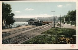 Railway Station Weirs Lake Postcard