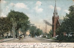 Union Street showing R.C. Church Postcard